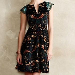 Anthropologie Eva Franco Larksong Corduroy Dress